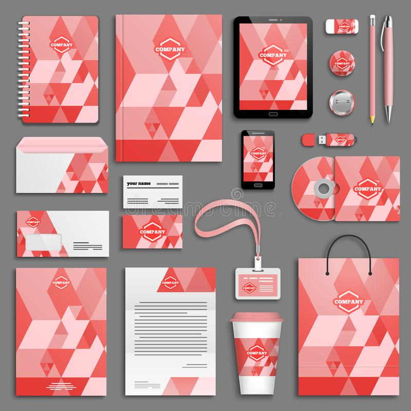 Corporate identity template set. stock illustration