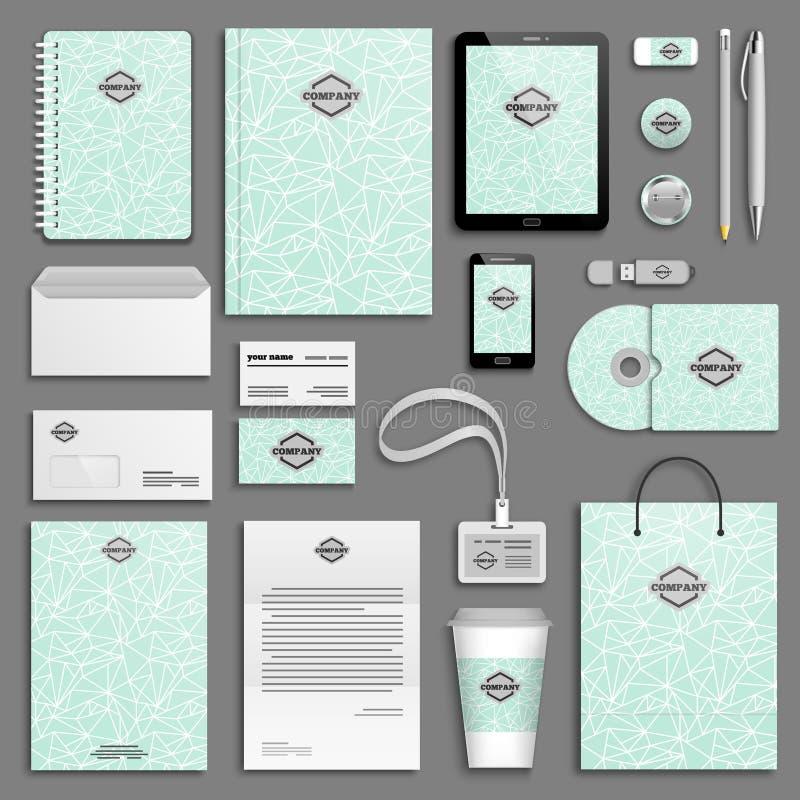 Corporate identity template set. vector illustration
