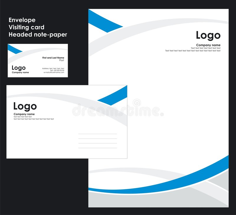 Corporate Identity Template Vector royalty free illustration
