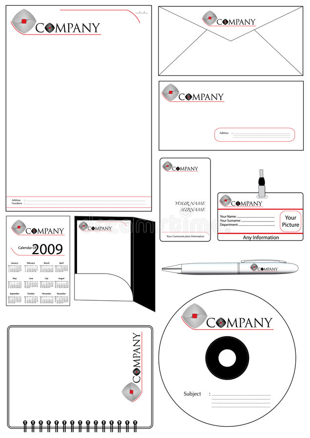 Download Corporate Identity Template Vector Set Stock Vector - Image: 8536302