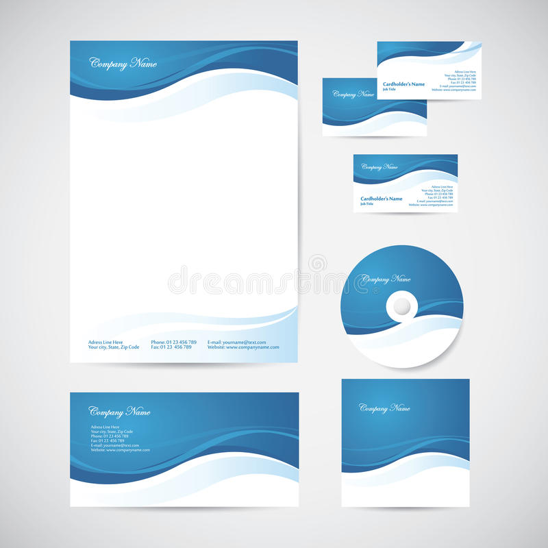 Corporate identity stock vector. Illustration of elegance - 32915548