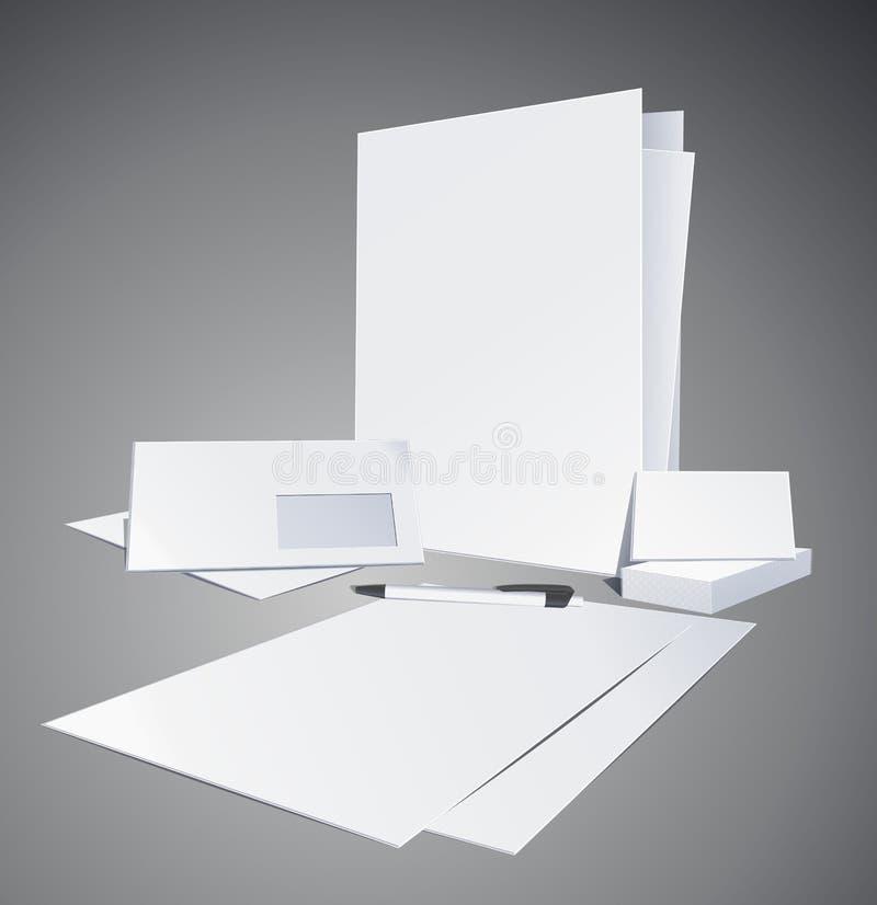 Corporate identity templates. Vector illustration stock photography