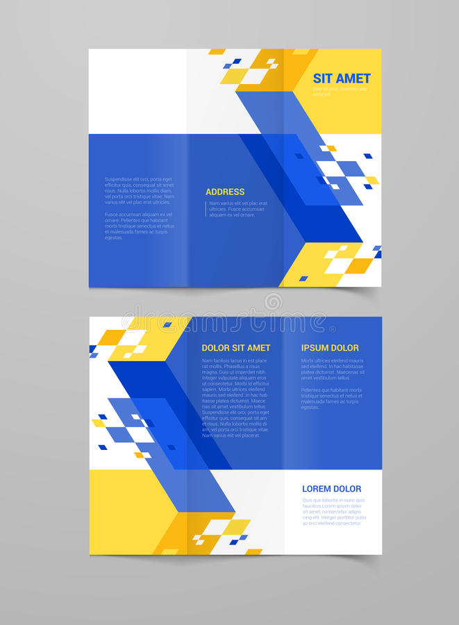 Corporate identity vector brochure mockup stock illustration