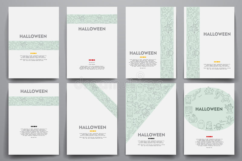 Corporate identity vector templates set with stock illustration