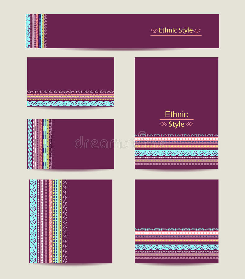 Corporate Identity vector templates set with vector illustration