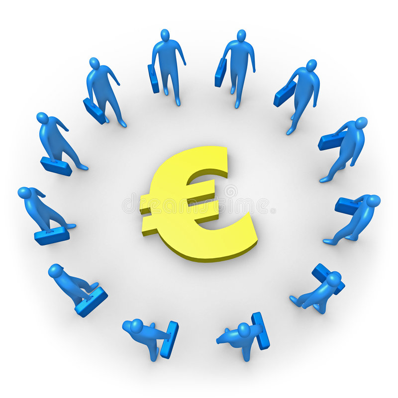 Corporate Income - Euro royalty free illustration