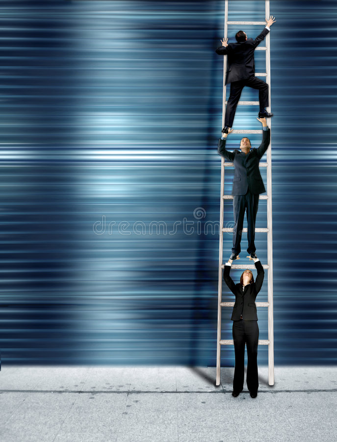 Download Corporate Ladder - Blue Version Stock Photo - Image: 1344556