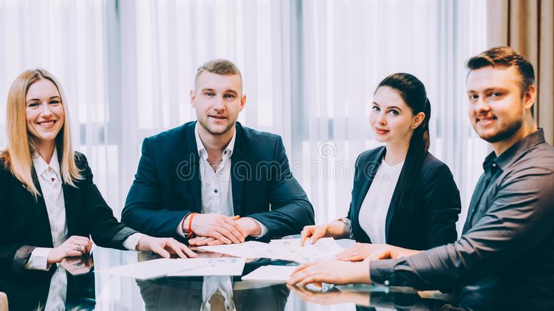 Corporate lifestyle confident professional team royalty free stock photography