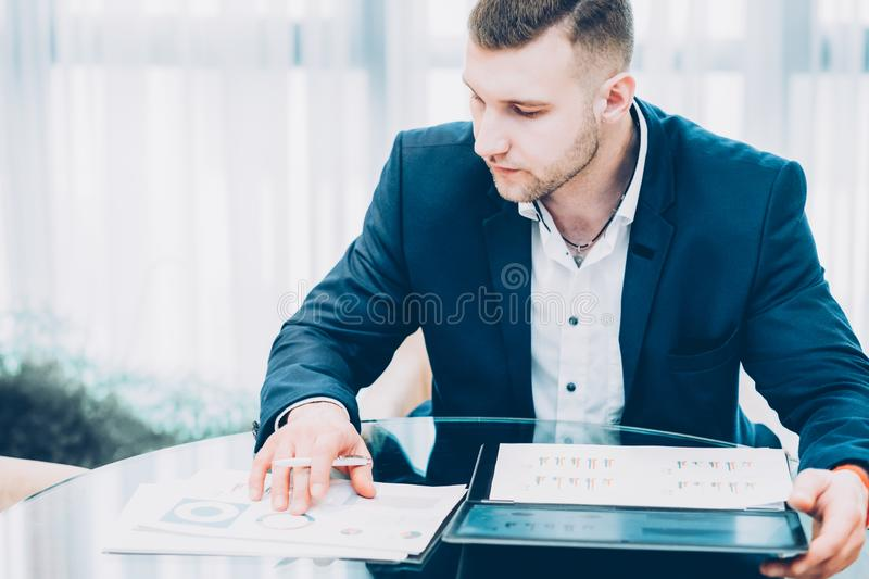 Corporate lifestyle successful business man office royalty free stock photos