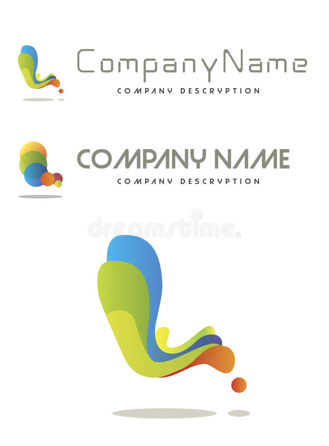 Corporate logo. Isolated on white