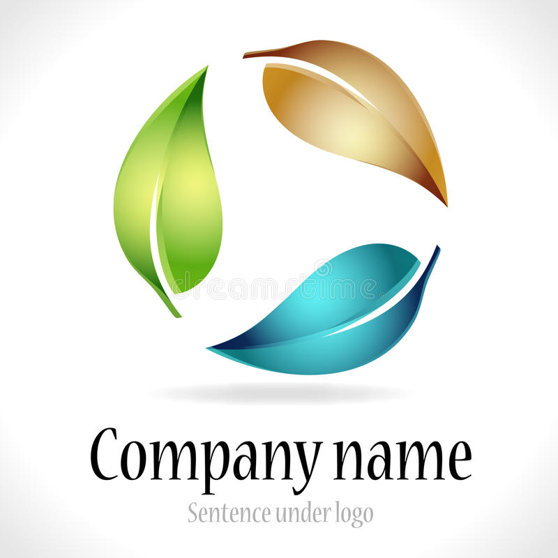 Corporate logo. Depicted on white background
