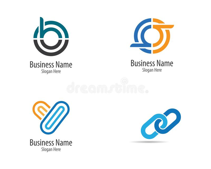 Corporate logo template royalty free illustration