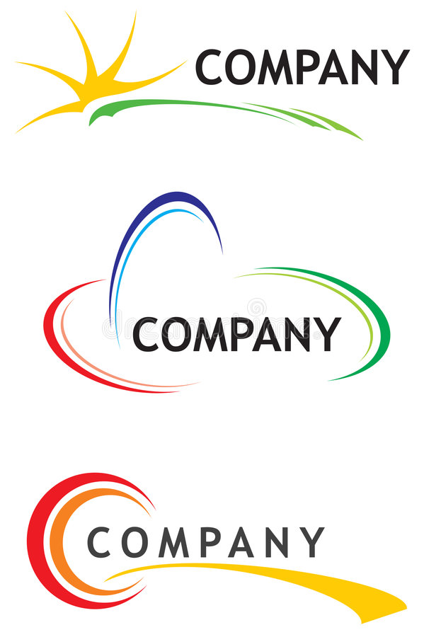 Corporate logo templates royalty free illustration