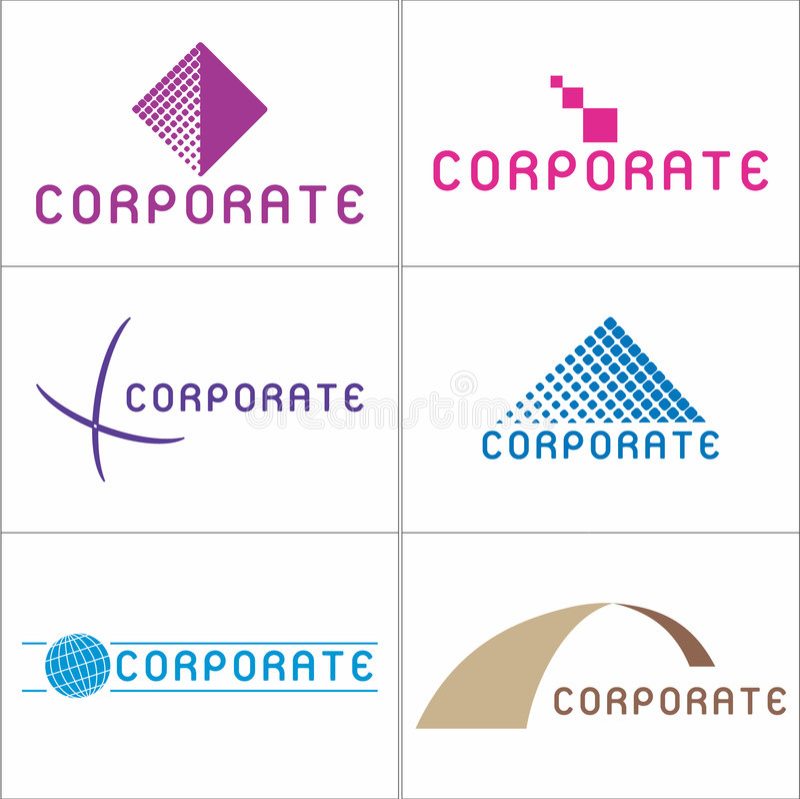 Corporate Logos stock illustration