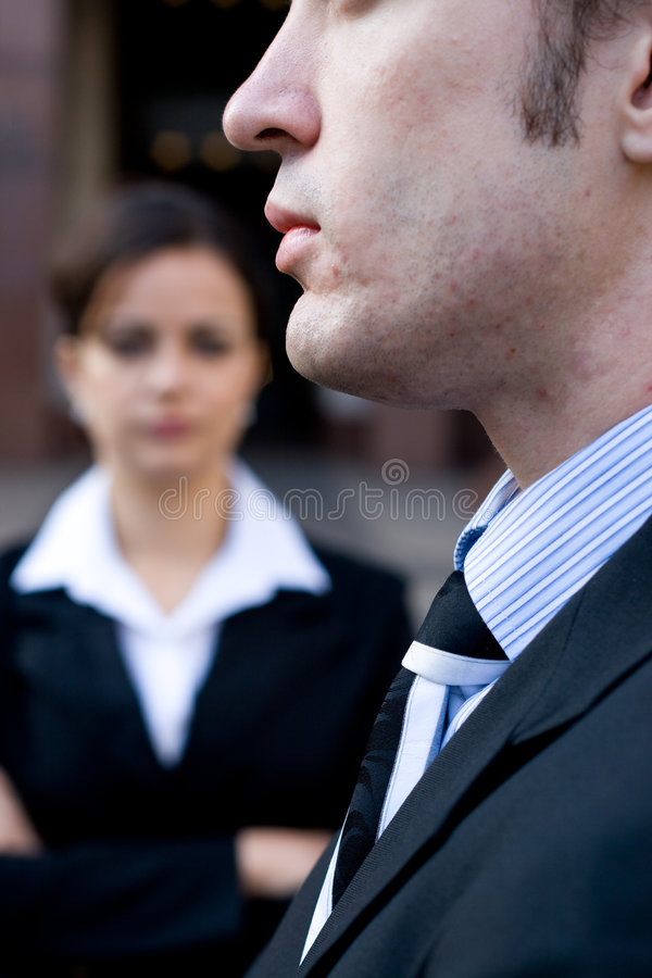 Corporate man & woman royalty free stock image