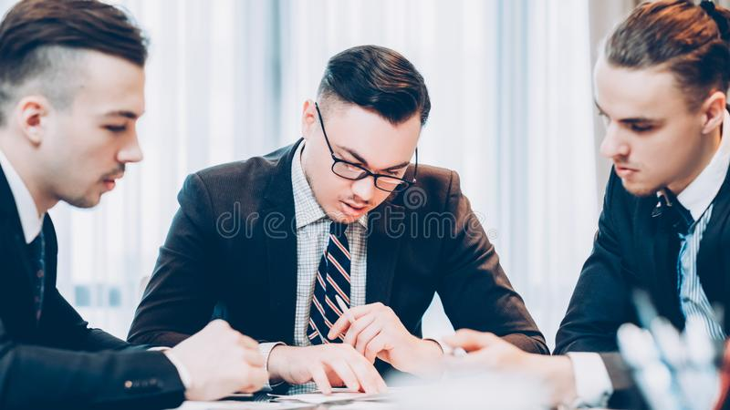 Corporate meeting business partners project royalty free stock photography