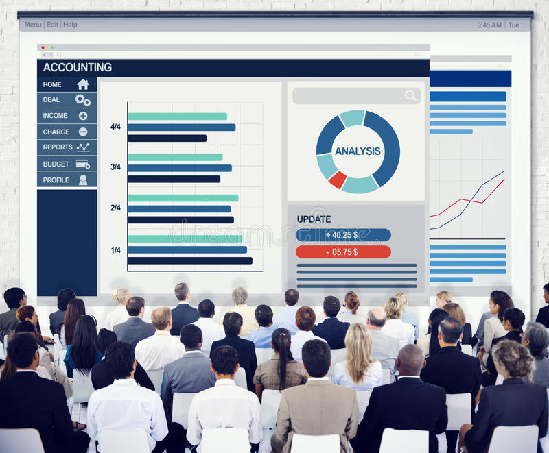 Corporate Meeting Conference Finance Accounting royalty free stock photo