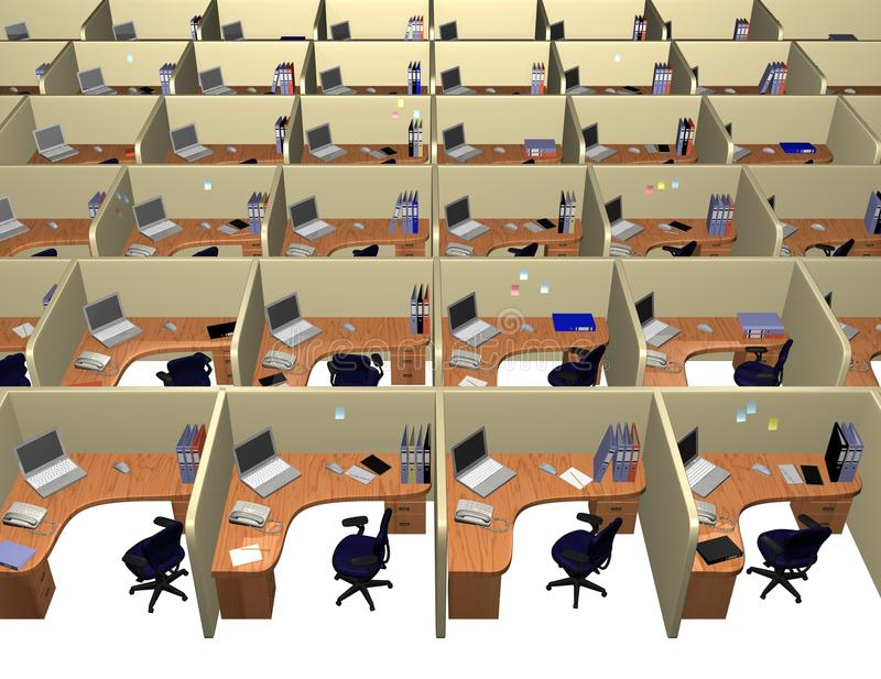Corporate office. Routine office concept, modern style