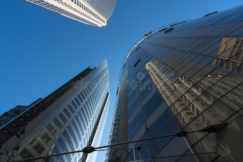 Corporate office buildings reflections. Reflections 3 Corporate office buildings in the city of Sydney. Copyspace royalty free stock image