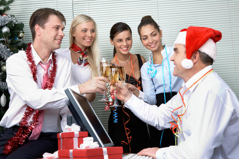 Corporate party royalty free stock photo