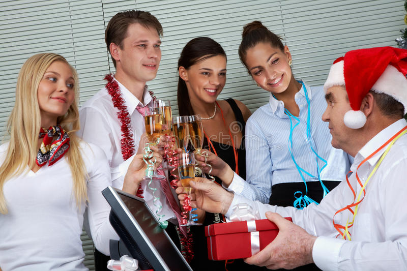 Download At corporate party stock photo. Image of congrats, cheerful - 24084570