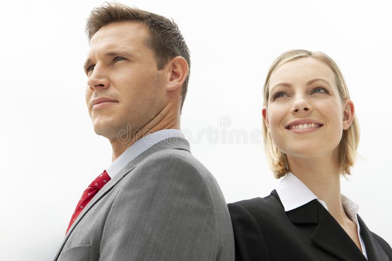 Corporate people - business team - man and woman stock images