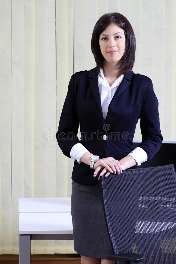 Corporate portrait of a business woman royalty free stock photos