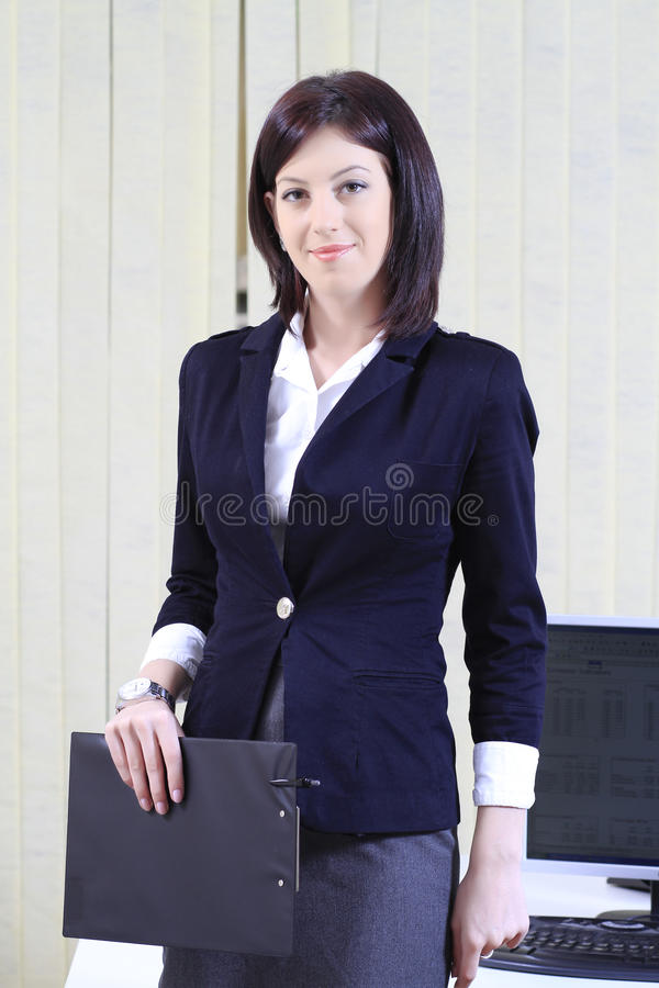 Corporate portrait of a businesswoman royalty free stock photography