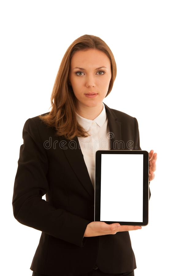 Corporate portrait of young beautiful caucasian business woman s royalty free stock image