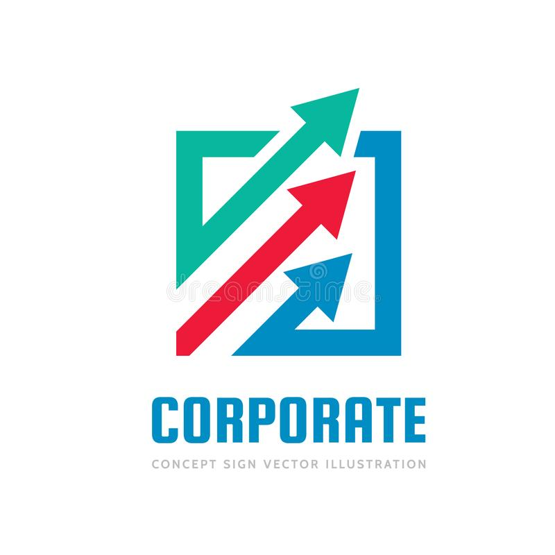 Free Corporate Progress - Concept Business Logo Template Vector Illustration. Abstract Arrows System Creative Sign. Economic Finance Stock Photo - 143176170