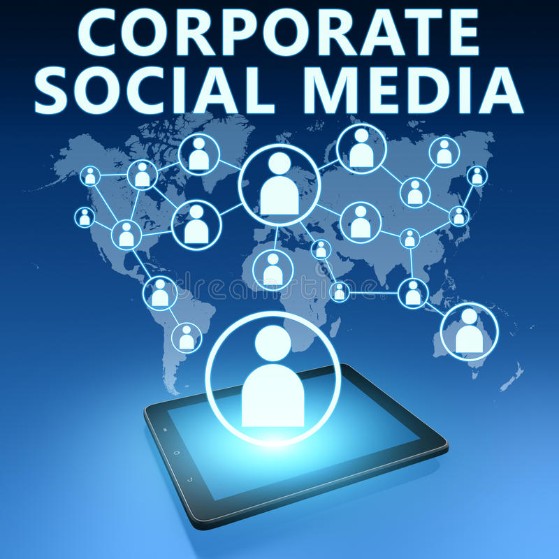 Corporate Social Media stock illustration
