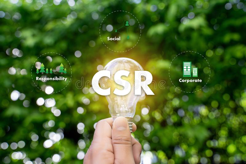 Corporate Social Responsibility CSR and Sustainability Responsible Office CSR stock photography