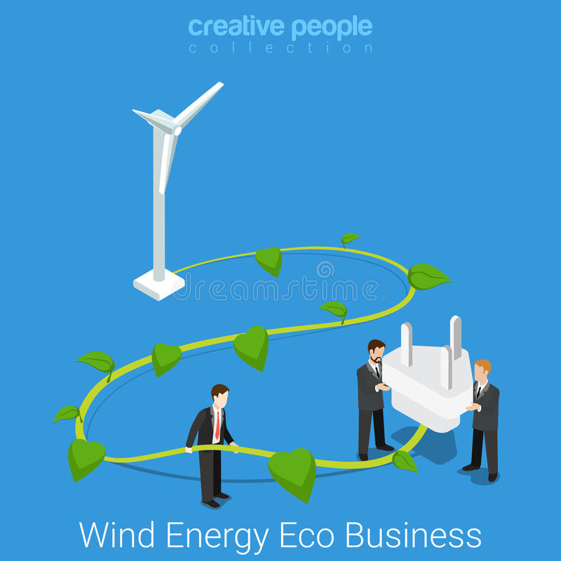 Corporate social responsibility eco business flat vector stock illustration