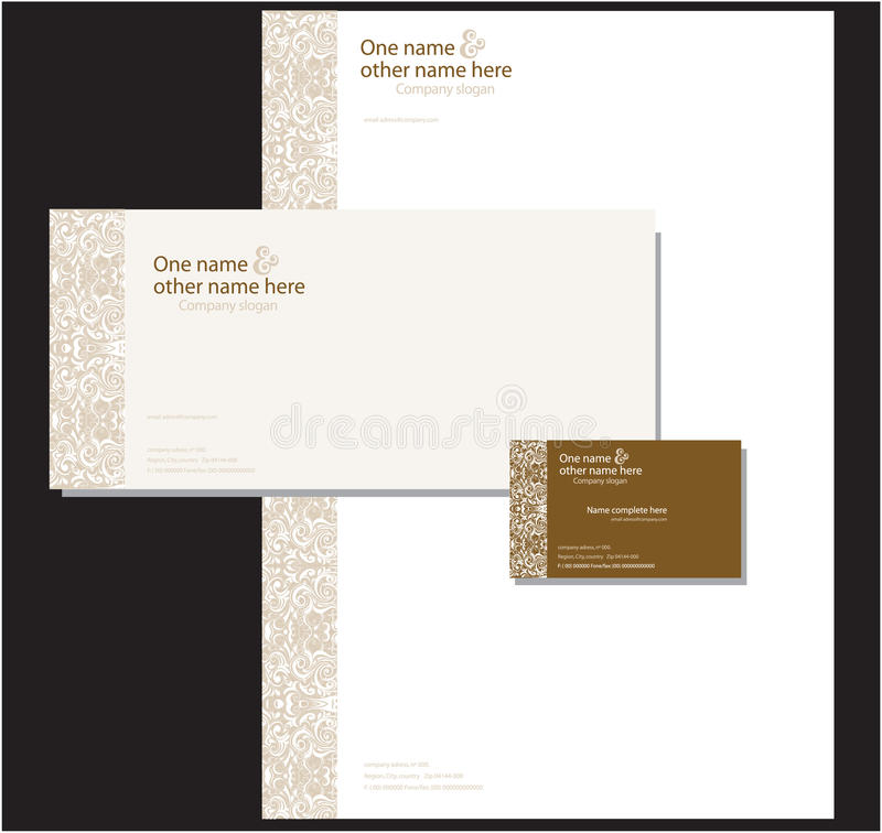 Download Corporate stationary stock vector. Image of border, compliment - 11174074