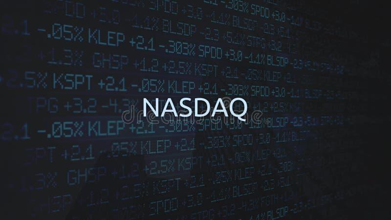 Corporate Stock Market Exchanges animated series - NASDAQ. Mar 18 2018 royalty free illustration
