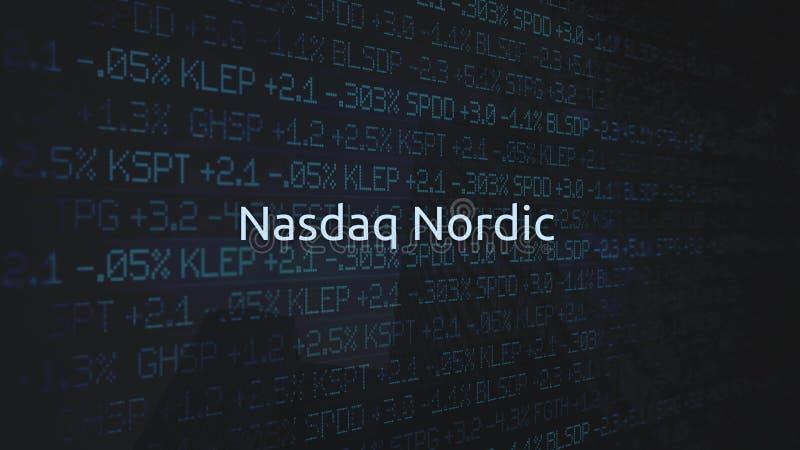 Corporate Stock Market Exchanges animated series - NASDAQ Nordic. Mar 18 2018 royalty free illustration