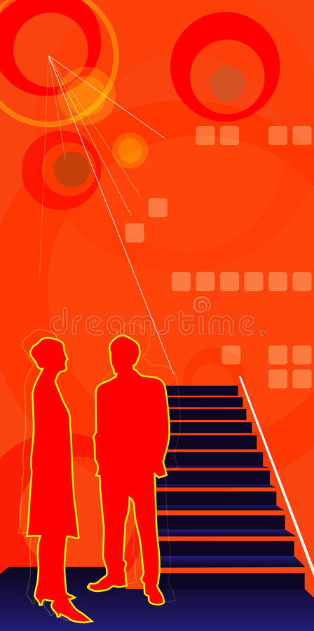 Download Corporate talk stock vector. Image of orange, down, grunge - 1594836