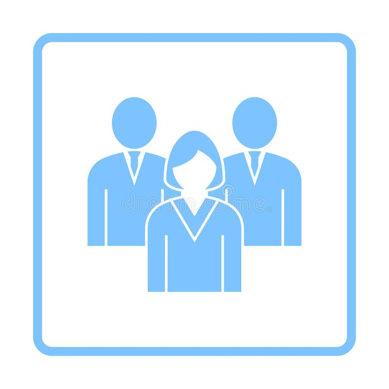 Corporate Team Icon. Blue Frame Design. Vector Illustration royalty free illustration