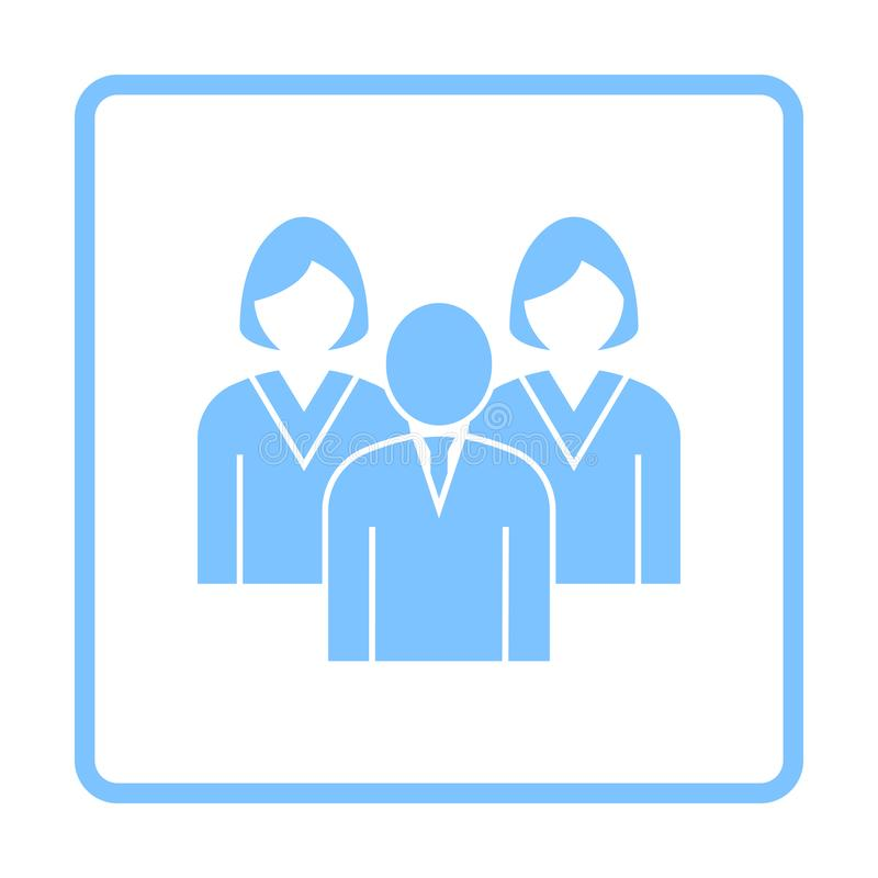 Corporate Team Icon. Blue Frame Design. Vector Illustration vector illustration