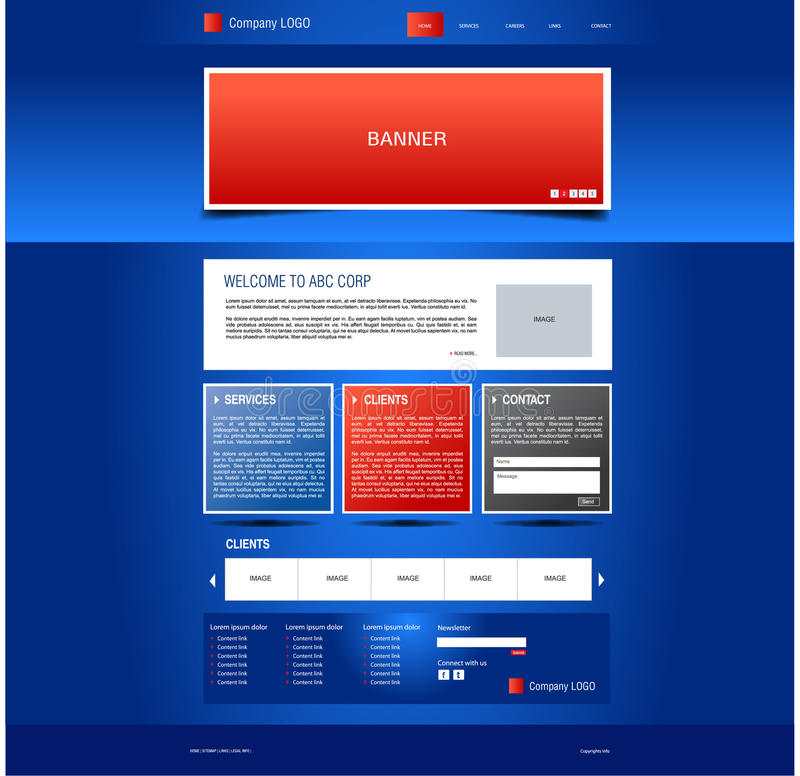 Corporate Template royalty free stock photography