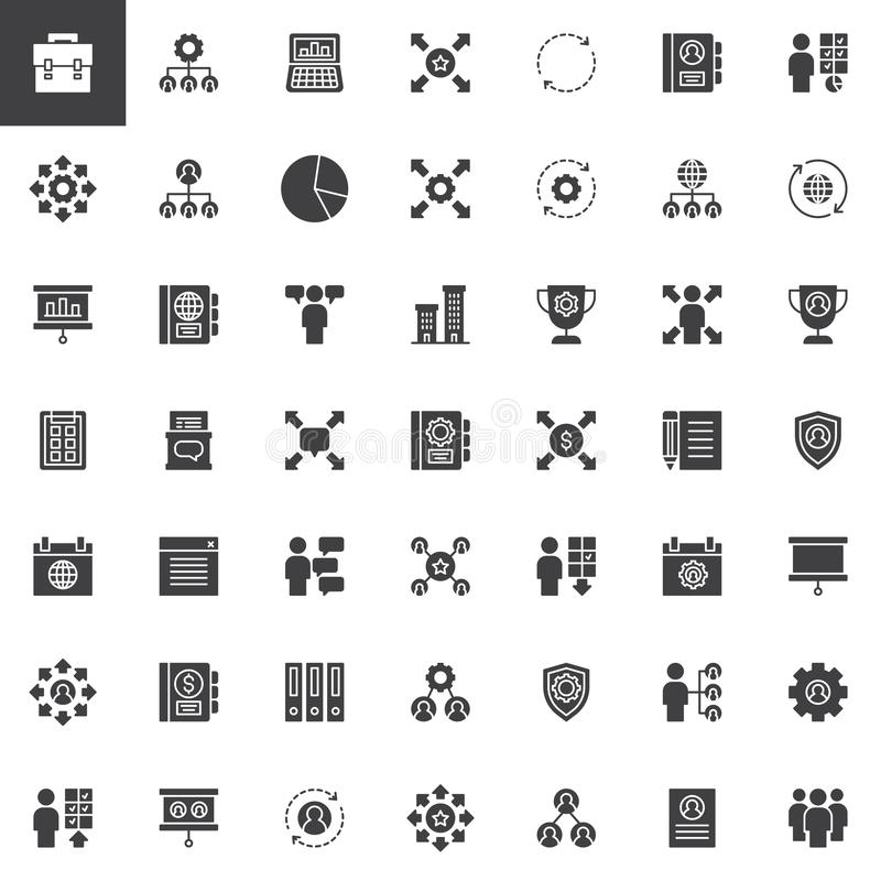 Corporate vector icons set royalty free illustration