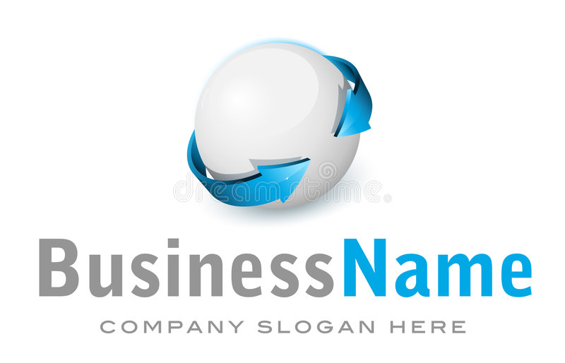 Corporate Vector Logo Royalty Free Stock Images