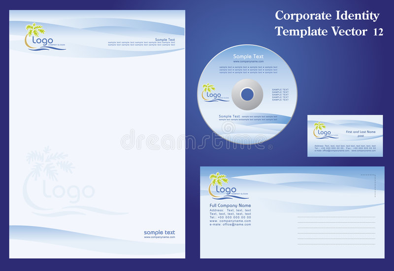 Corporate Vector Template royalty free illustration