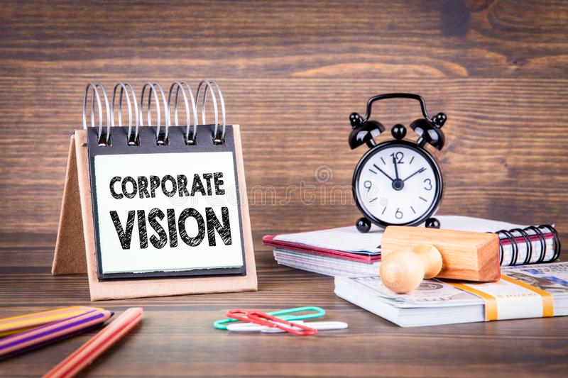 Corporate Vision concept. Business and success. Background stock photos