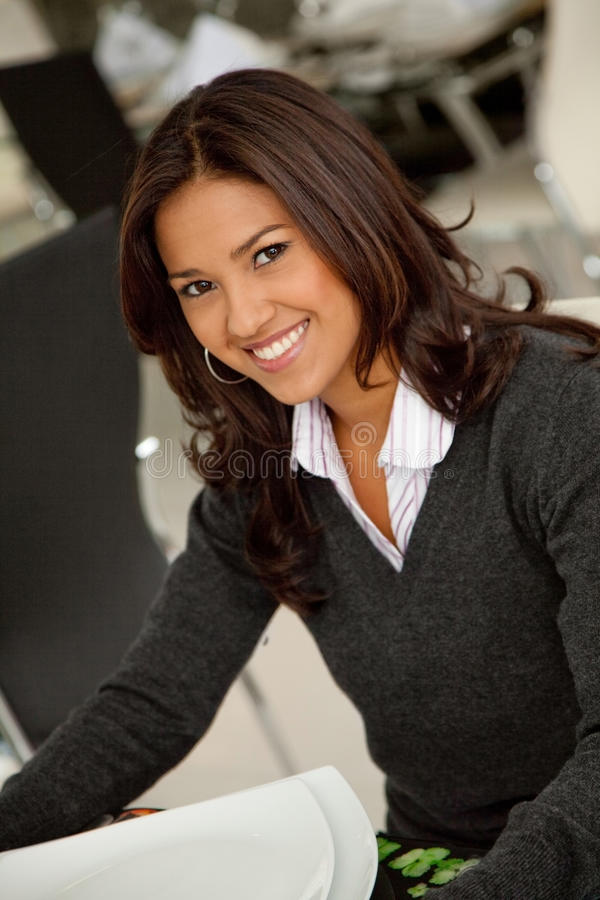 Download Corporate Woman At A Restaurant Stock Photo - Image: 12423102