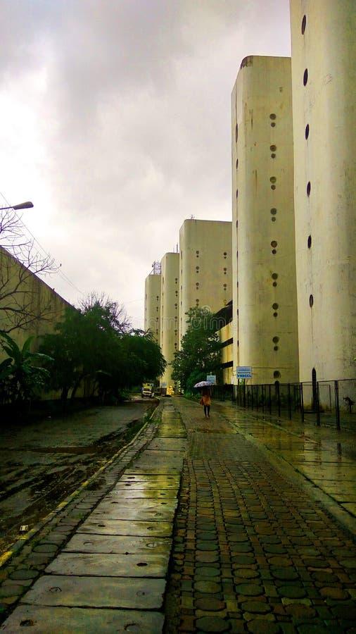 Corporates dell'ufficio della costruzione della stazione di vashi di Navi Mumbai immagini stock