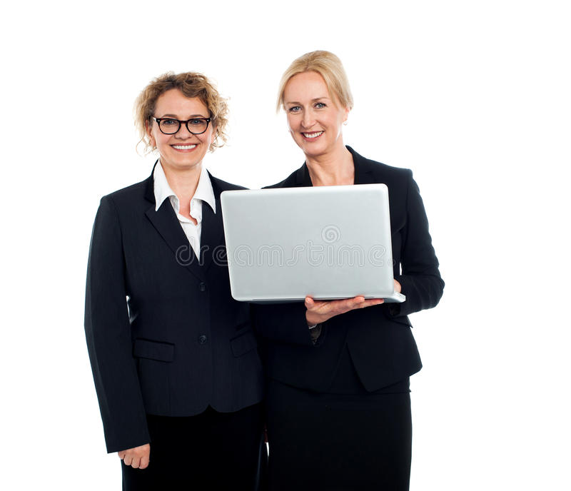 Corporates experientes do negócio no trabalho foto de stock