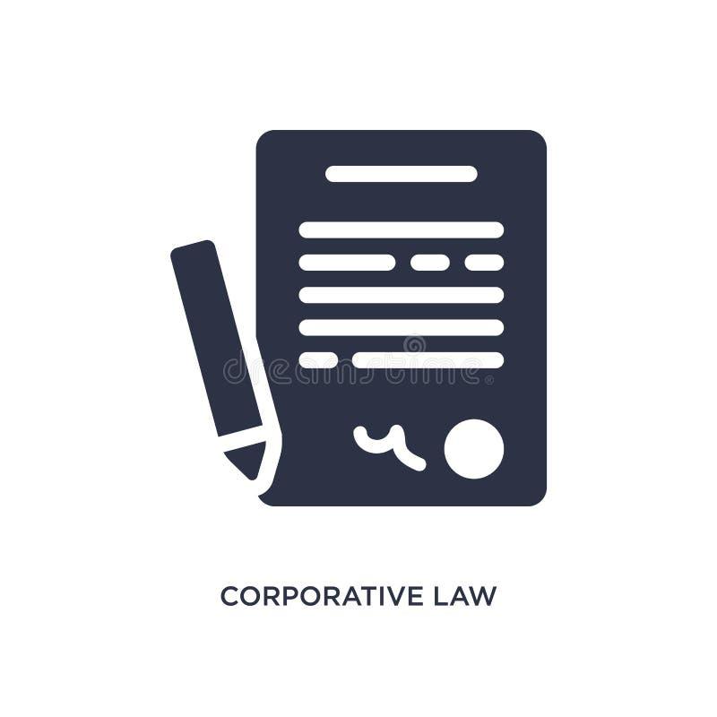 corporatief wetspictogram op witte achtergrond Eenvoudige elementenillustratie van wet en rechtvaardigheidsconcept royalty-vrije illustratie