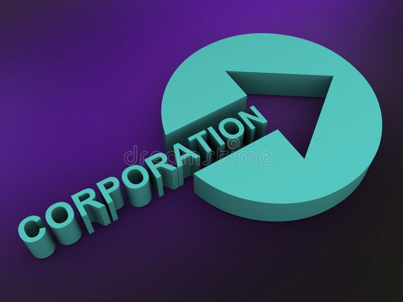 corporation ilustração stock