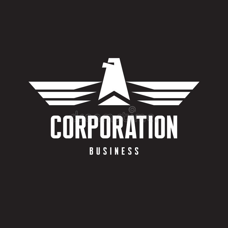 Download Corporation - Eagle Logo Sign In Classic Graphic Style Stock Vector - Illustration: 39842315